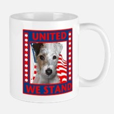 Wire Fox Terrier with flag Mug