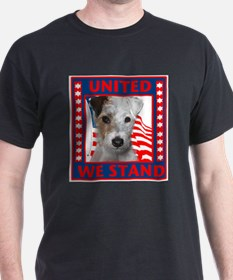 Wire Fox Terrier with flag T-Shirt