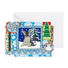 Scrapbook German Shepard Christmas Greeting Card