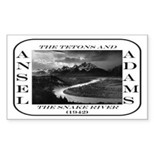 Tetons & Snake River Rectangle Decal