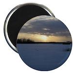 """Winter Sunset 0238 2.25"""" Magnet (10 pack)"""