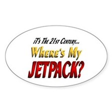 Where's My Jetpack Oval Decal
