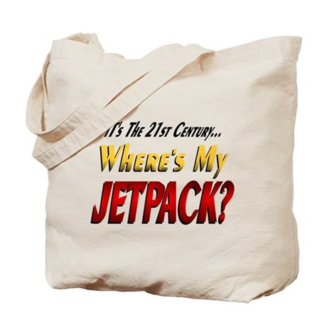 Where's My Jetpack Tote Bag