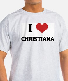 I Love Christiana Ash Grey T-Shirt