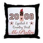 Lipstick Country First McPalin Throw Pillow
