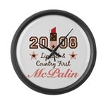 Lipstick Country First McPalin Large Wall Clock