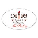 Lipstick Country First McPalin Sticker (Oval 10 pk