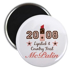 """Lipstick Country First McPalin 2.25"""" Magnet 1"""