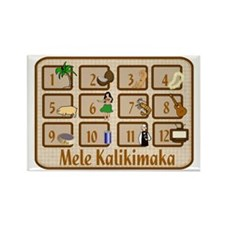 Mele Kalikimaka Rectangle Magnet
