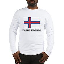 Faroe Islands Flag Long Sleeve T-Shirt