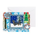 Doxie christmas Greeting Cards