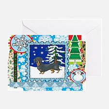 Scrapbook Dachshund Christmas Greeting Card