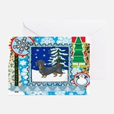 Scrapbook Dachshund Christmas Greeting Cards (Pk o
