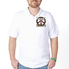 Peace Love and Chocolate Golf Shirt