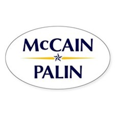 McCain/Palin Oval Decal
