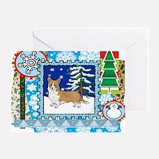 Scrapbook Welsh Corgi Christmas Greeting Card