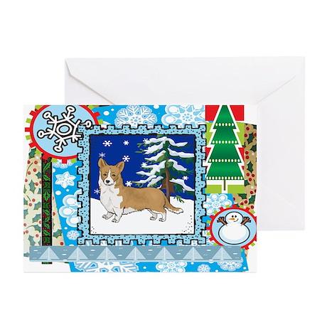 Scrapbook Welsh Corgi Christmas Greeting Cards (Pk