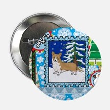 "Scrapbook Welsh Corgi Christmas 2.25"" Button"