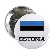 "Estonia Flag 2.25"" Button"