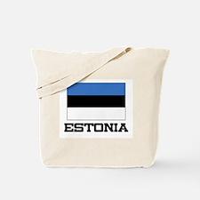 Estonia Flag Tote Bag