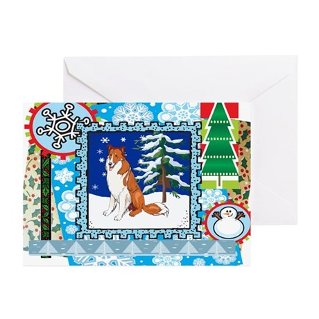 Scrapbook Collie Christmas Greeting Cards (Pk of 2
