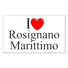 """I Love (Heart) Rosignano Marittimo"" Decal"
