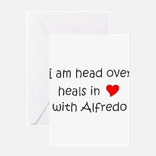 Cute I love alfredo Greeting Card