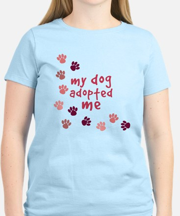 My Dog Adopted Me Paw Print T-Shirt