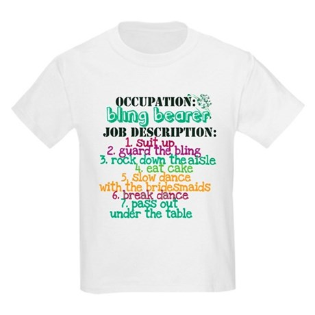 Occupation Bling Bearer Green Kids Light T-Shirt
