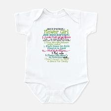 Occupation Flower Girl - Green Infant Bodysuit