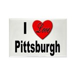 I Love Pittsburgh Rectangle Magnet (10 pack)
