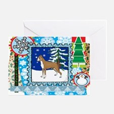 Scrapbook Boxer Christmas Greeting Card