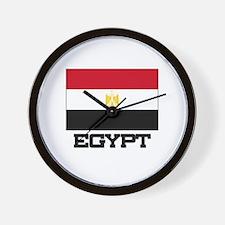 Egypt Flag Wall Clock
