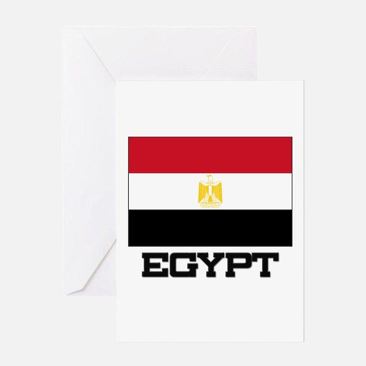 Egypt Flag Greeting Card