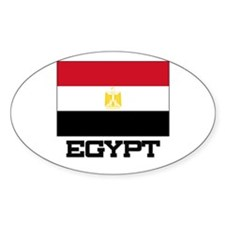Egypt Flag Oval Decal