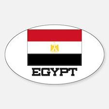 Egypt Flag Oval Decal
