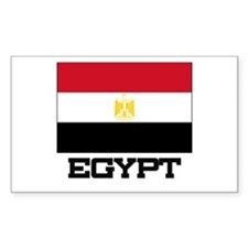 Egypt Flag Rectangle Decal