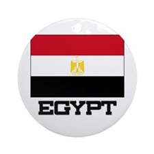 Egypt Flag Ornament (Round)