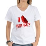 I love Hockey Women's V-Neck T-Shirt