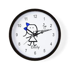 Flute - Emily Wall Clock