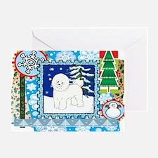 Scrapbook Bichon Frise Christmas Greeting Card