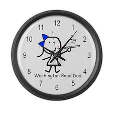 Flute - Washington Band Dad Large Wall Clock