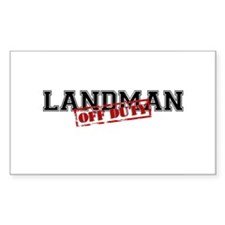 Landman Off Duty Rectangle Decal