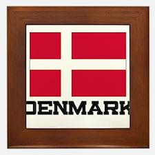 Denmark Flag Framed Tile