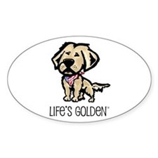 Life's Golden USA Oval Decal