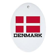 Denmark Flag Oval Ornament