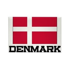 Denmark Flag Rectangle Magnet