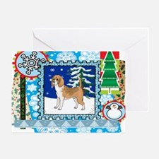 Scrapbook Beagle Christmas Greeting Card