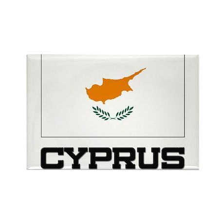 Cyprus Flag Rectangle Magnet