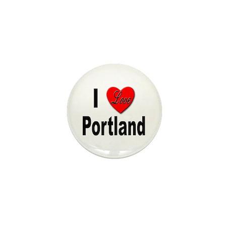I Love Portland Mini Button